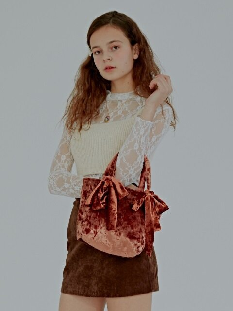 Mimi Velvet Ribbon Tote Bag