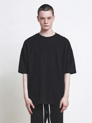 Oversized Basic T-Shirt - Black