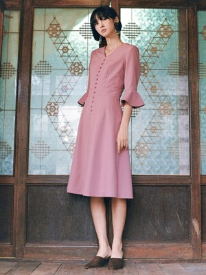 Flare Dress _ Pink