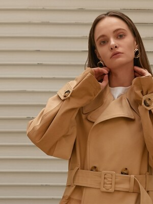 OVER FIT TRENCHCOAT_BEIGE