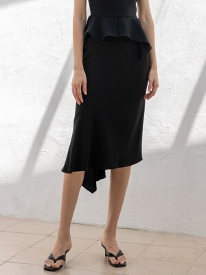 Asymmetric Skirt_Black