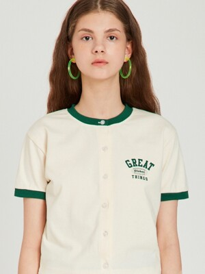 MG9S GREAT OPEN CROP TEE (GREEN)