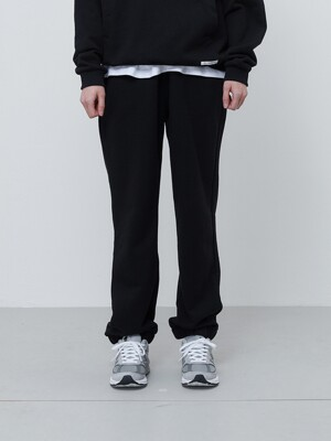 FINEST COTTON SWEATPANTS-BLACK