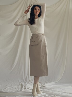 ES POCKET SKIRT(BEIGE)