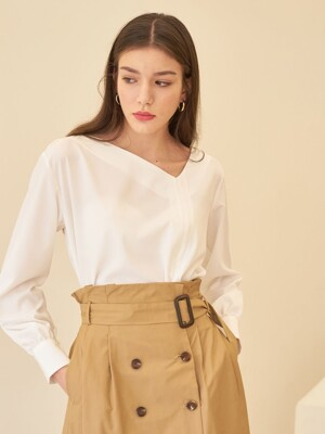 UNBAL STRING BLOUSE WHITE