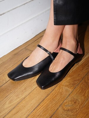 Melody Mary Jane Babouche / YY9A-F11 Black+Rosy