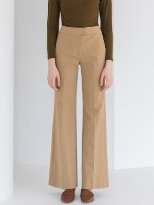 Bootscut Wide Pants_Deep Beige