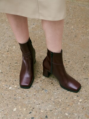 newt ankle boots - burgundy