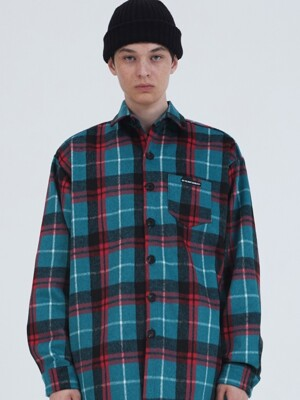 T39F WOOL CHECK SHIRT_RED