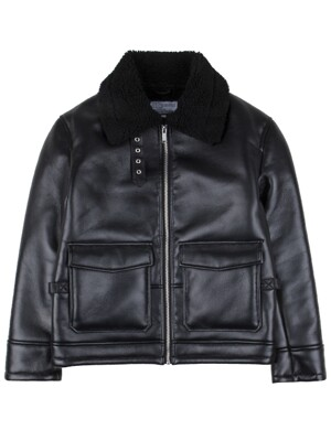 445# A-2 MOUTON JACKET BLACK