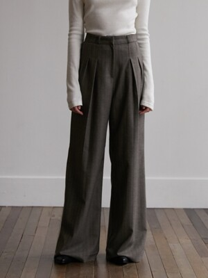 Modern wool pant - Brown