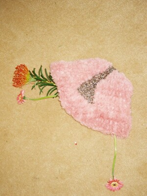 triangle hat pink