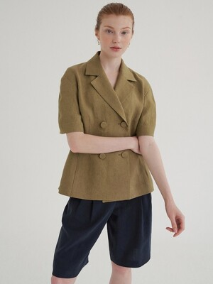 linen summer jacket (khaki)