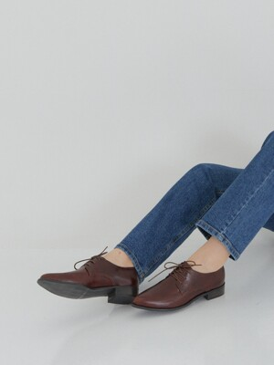 [단독] leve loafer - burgundy