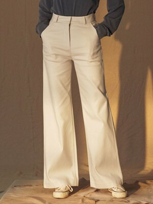 SI PT 7014 Bootscut DP Pants_Cream smoke