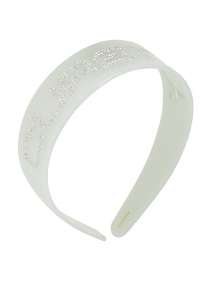 C RHINESTONE LOGO HAIR BAND_EMERALD