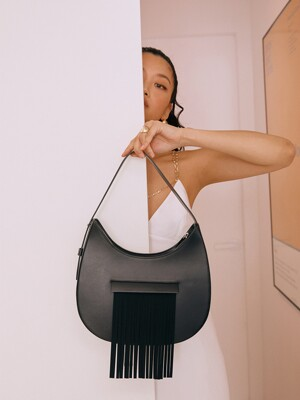 `drop` FRINGE BAG(BLACK PEPPER)