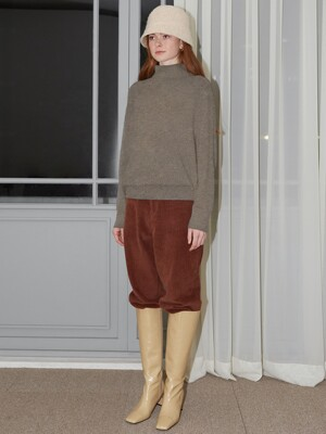 WOOL CASHMERE TURTLENECK - MOCHA