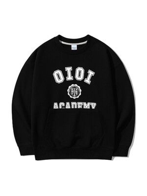 POCKET VARSITY SWEATSHIRTS [BLACK]