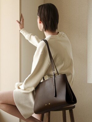 MID LINK BAG_CHOCO BROWN