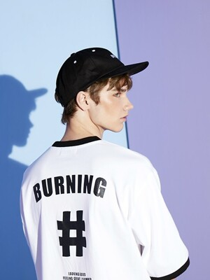 BURNING Baseball CAP (Black)