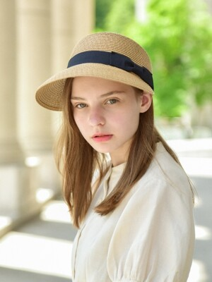 Lady London Ribbon Panama Hat (2colors)