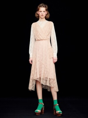 TOW-TONE LACE DRESS