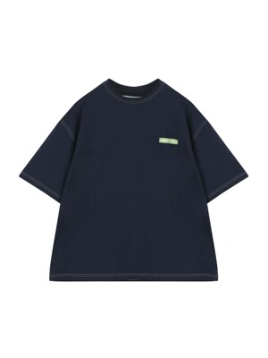 ORDINARY STITCH POINT NAVY T-SHIRT