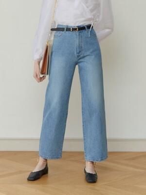 HIGH-RISE WIDE LEG JEANS (MID-BLUE)
