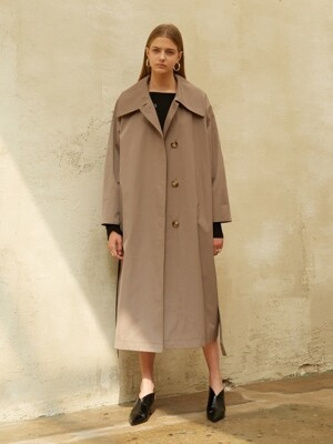 18FW OVERSIZED TRENCH COAT BROWN