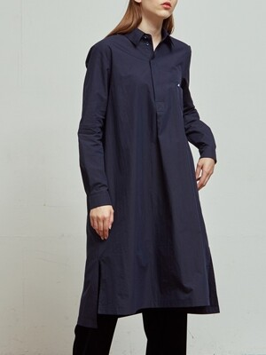 Nuee long tunic onepiece_Navy