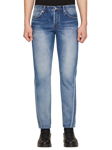 DAVID SLIM LASER STRIPE DENIM