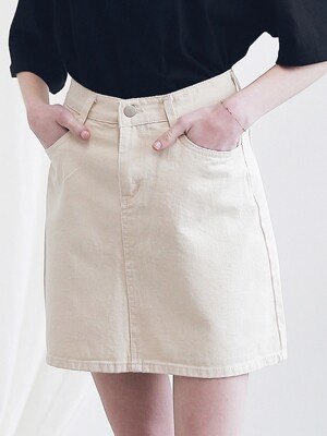 BASIC TWILL COTTON SKIRT ASK191001-BG