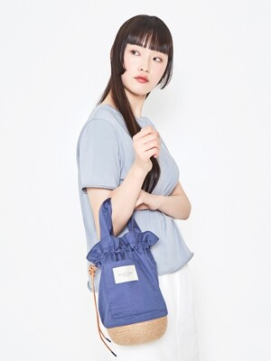 Jute Pottery Bag_Blue