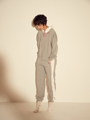 HATES JERSEY PANTS - GREY/BLACK