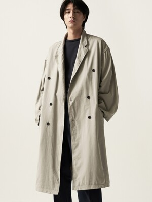 Oversized Washing Coat Ash Gray