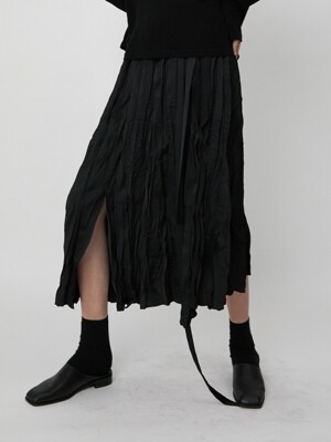 Skirt L Pleats Black