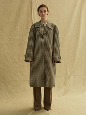 19FW RAGLAN SLEEVE COAT - CHECK