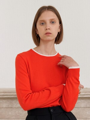 CASHMERE COLOR KNIT_ORANGE