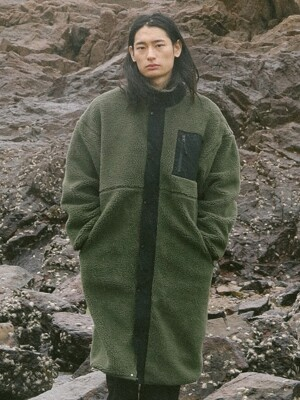 MILL BOA FLEECE COAT KHAKI