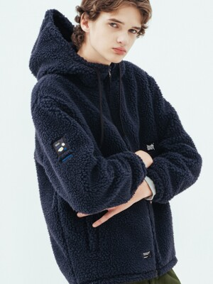 BB BOA FLEECE JACKET - NAVY