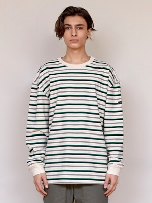 LT336_Black label Stripe TEE_Green