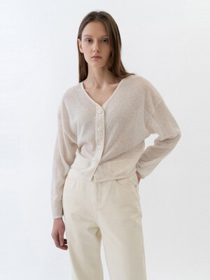 SHEER CARDIGANS WOMEN [BEIGE]