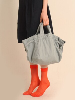 Cotton string bag [grey]