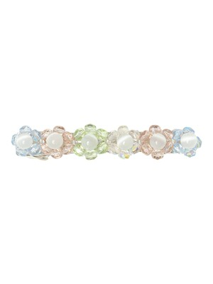 Flower Beads Barrette (Sherbet)