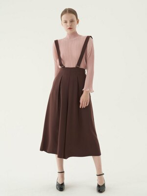 20' Fall_Wine Mid Length culottes pants