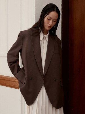 [EXCLUSIVE] LOOSE FIT JACKET - COCOA