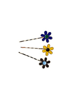 FLOWER POWER HAIR PIN (SET OF 3)