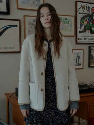 Shearling and Leather Reversible Mustang Coat