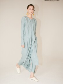 [Signature] ROBE Drape Dress_Classic Mint
